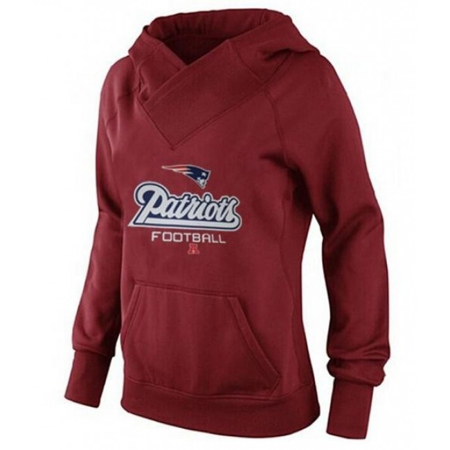 Women's New England Patriots Big Tall Critical Victory Pullover Hoodie Red Jersey