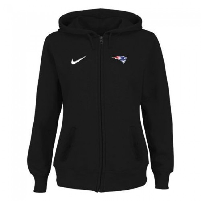 Women's New England Patriots Stadium Rally Full Zip Hoodie Black Jersey