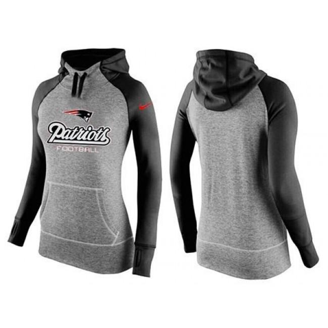 Women's New England Patriots Hoodie Grey Black Jersey