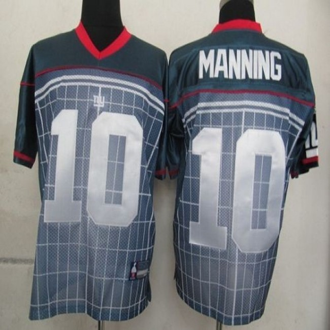 Giants #10 Eli Manning Grey Stitched NFL Jersey