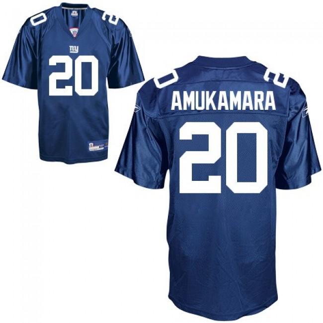 Giants #20 Prince Amukamara Blue Stitched NFL Jersey