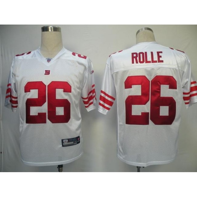 Giants #26 Antrel Rolle White Stitched NFL Jersey
