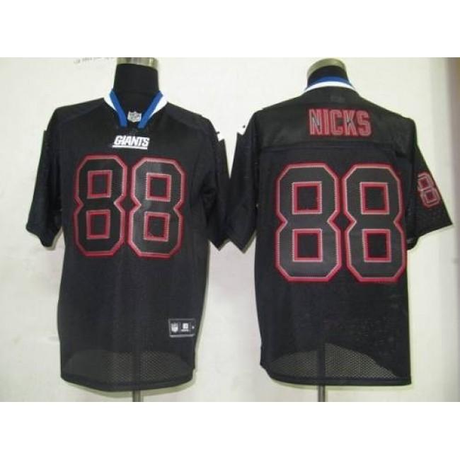 Giants #88 Hakeem Nicks Lights Out Black Stitched NFL Jersey