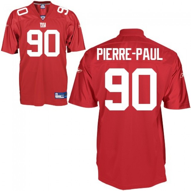 Giants #90 Jason Pierre-Paul Red Stitched NFL Jersey