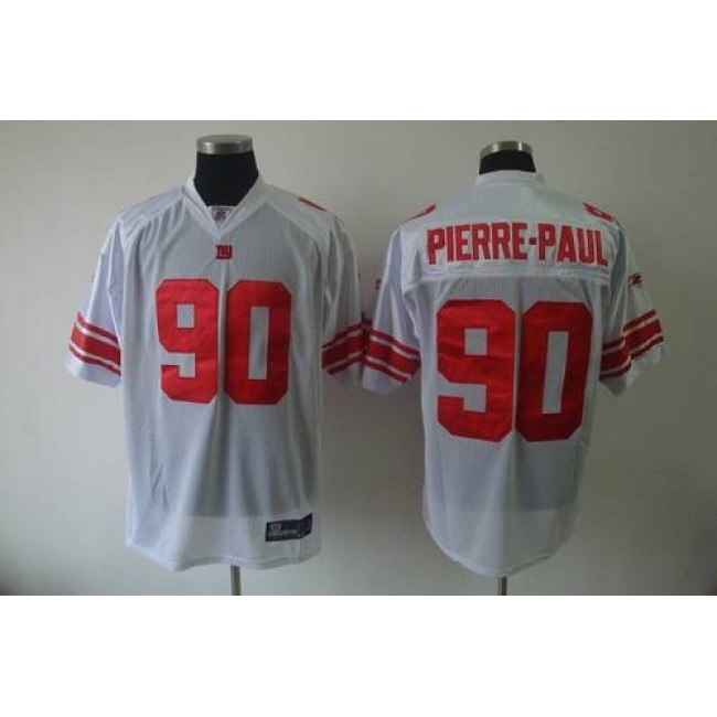 Giants #90 Jason Pierre-Paul White Stitched NFL Jersey