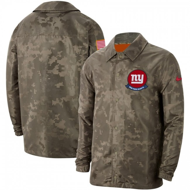 Men's New York Giants Nike Camo 2019 Salute to Service Sideline Full-Zip Lightweight Jacket