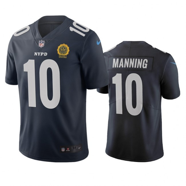 New York Giants #10 Eli Manning Navy Vapor Limited City Edition NFL Jersey