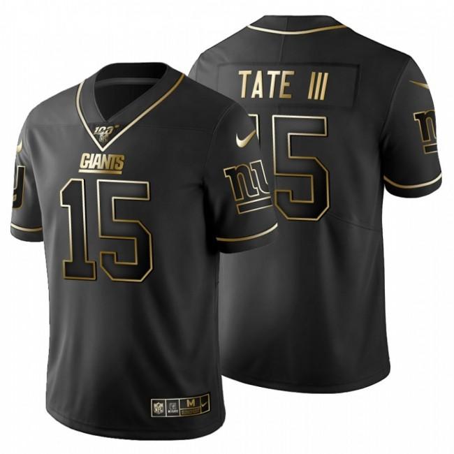 New York Giants #15 Golden Tate III Men's Nike Black Golden Limited NFL 100 Jersey