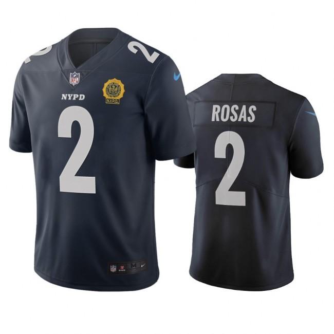 New York Giants #2 Aldrick Rosas Navy Vapor Limited City Edition NFL Jersey