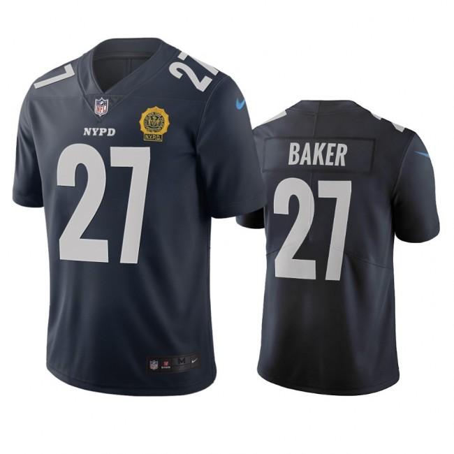 New York Giants #27 Deandre Baker Navy Vapor Limited City Edition NFL Jersey