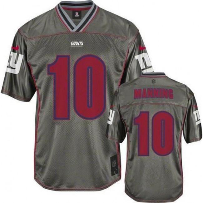 Nike Giants #10 Eli Manning Grey Men's Stitched NFL Elite Vapor Jersey
