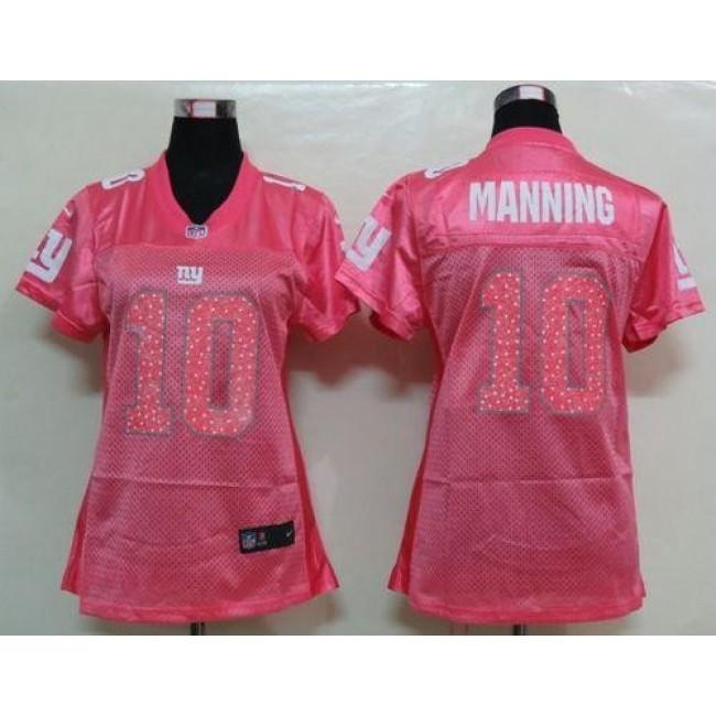 Women's Giants #10 Eli Manning Pink Sweetheart NFL Game Jersey