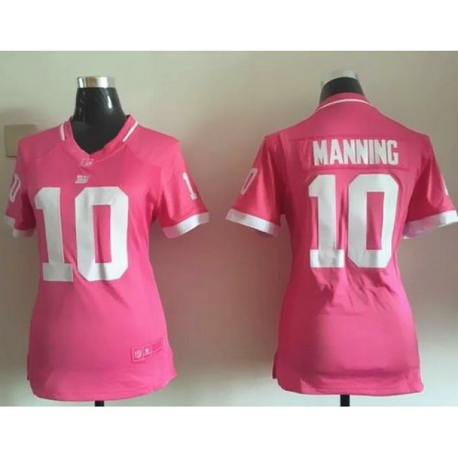 Women's Giants #10 Eli Manning Pink Stitched NFL Elite Bubble Gum Jersey