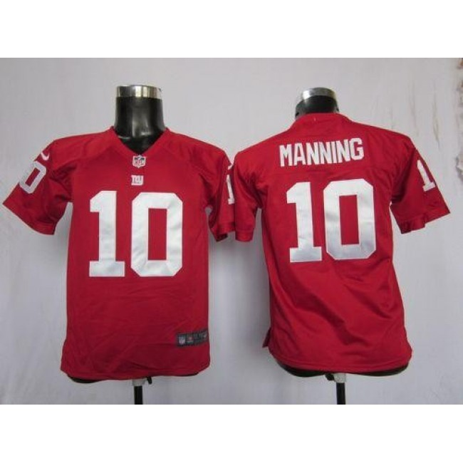 New York Giants #10 Eli Manning Red Alternate Youth Stitched NFL Elite Jersey