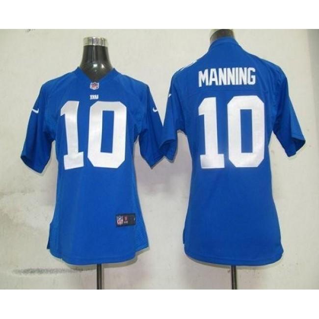 Women's Giants #10 Eli Manning Royal Blue Team Color Stitched NFL Elite Jersey