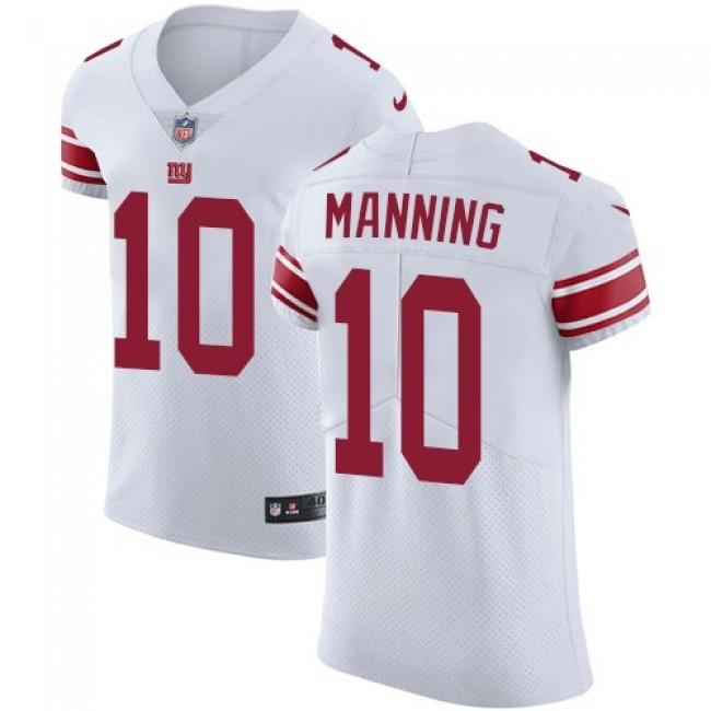 Nike Giants #10 Eli Manning White Men's Stitched NFL Vapor Untouchable Elite Jersey