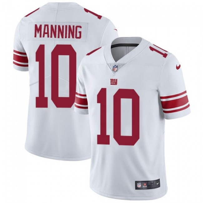 Nike Giants #10 Eli Manning White Men's Stitched NFL Vapor Untouchable Limited Jersey