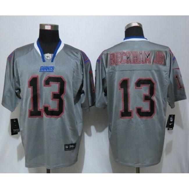 Nike Giants #13 Odell Beckham Jr Lights Out Grey Men's Stitched NFL Elite Jersey