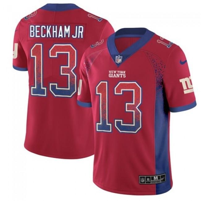 Nike Giants #13 Odell Beckham Jr Red Alternate Men's Stitched NFL Limited Rush Drift Fashion Jersey