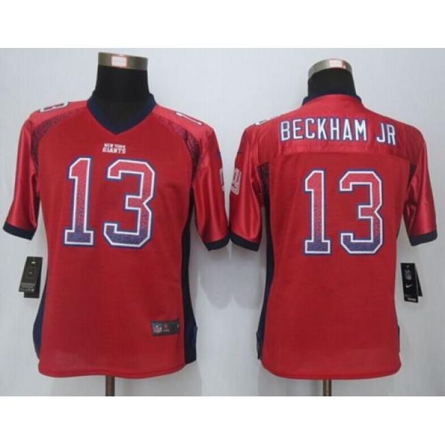Women's Giants #13 Odell Beckham Jr Red Alternate Stitched NFL Elite Drift Jersey