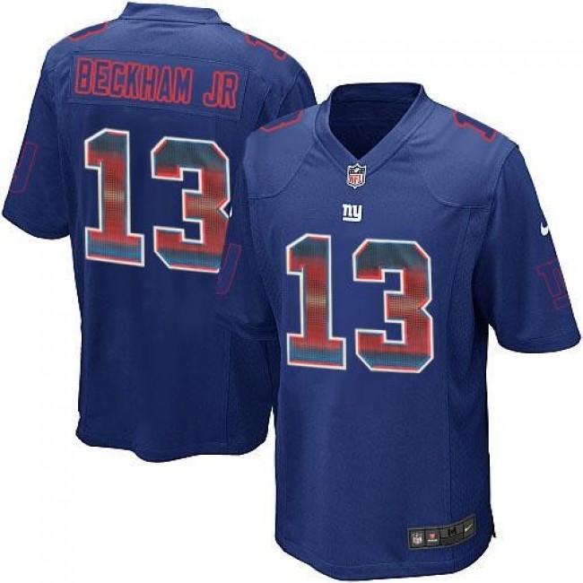 Nike Giants #13 Odell Beckham Jr Royal Blue Team Color Men's Stitched NFL Limited Strobe Jersey