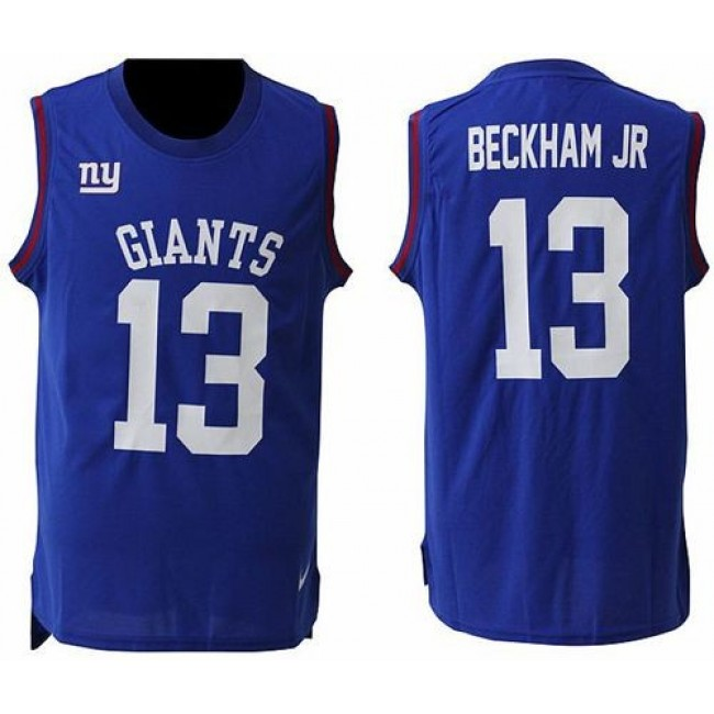Nike Giants #13 Odell Beckham Jr Royal Blue Team Color Men's Stitched NFL Limited Tank Top Jersey