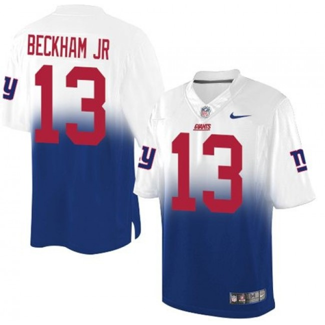 Nike Giants #13 Odell Beckham Jr Royal Blue/White Men's Stitched NFL Elite Fadeaway Fashion Jersey