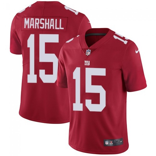 New York Giants #15 Brandon Marshall Red Alternate Youth Stitched NFL Vapor Untouchable Limited Jersey
