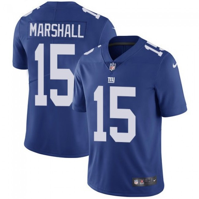 New York Giants #15 Brandon Marshall Royal Blue Team Color Youth Stitched NFL Vapor Untouchable Limited Jersey