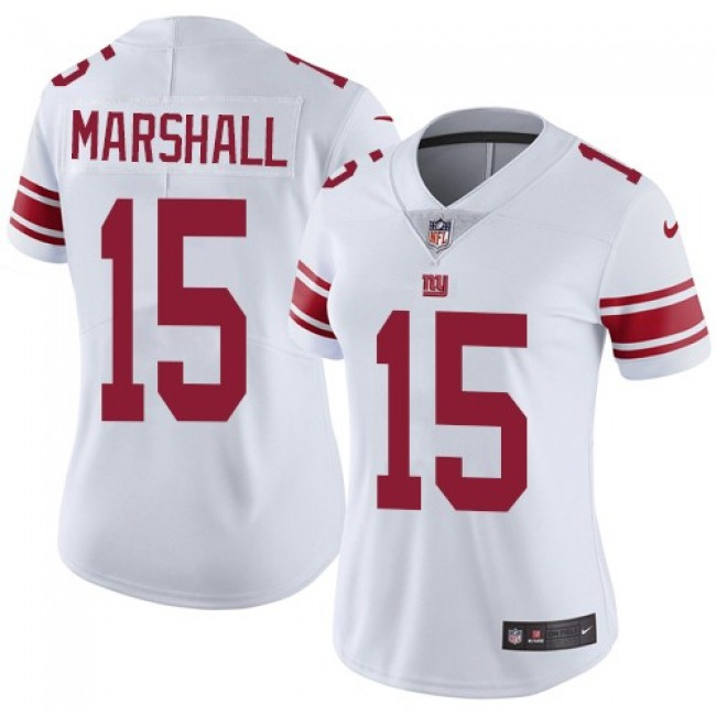 Women's Giants #15 Brandon Marshall White Stitched NFL Vapor Untouchable Limited Jersey