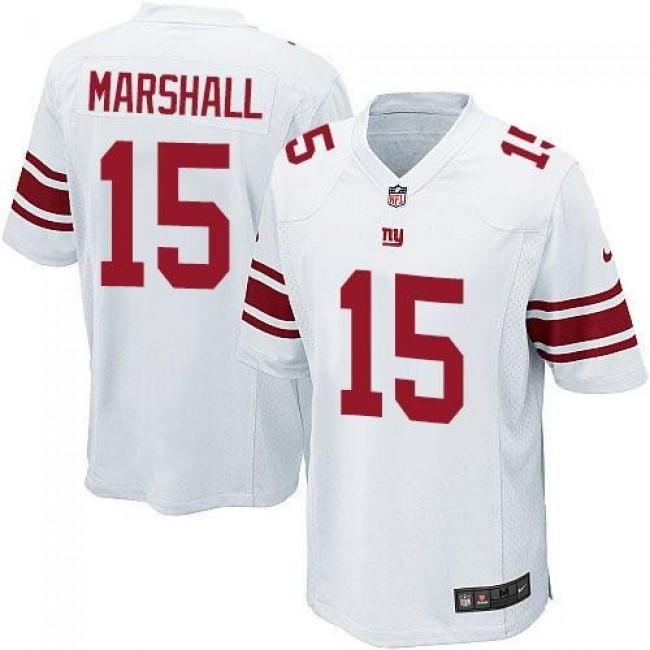 New York Giants #15 Brandon Marshall White Youth Stitched NFL Elite Jersey