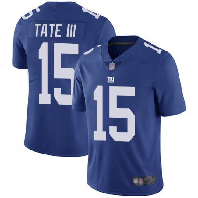 Nike Giants #15 Golden Tate III Royal Blue Team Color Men's Stitched NFL Vapor Untouchable Limited Jersey