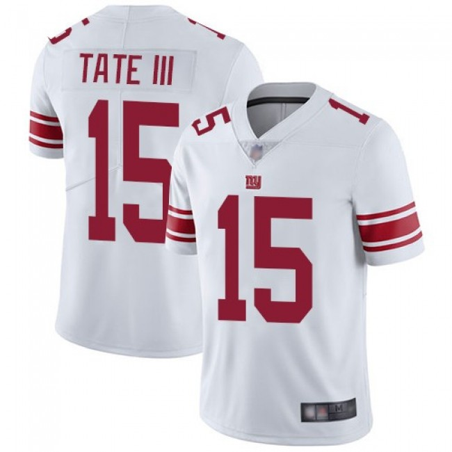 Nike Giants #15 Golden Tate III White Men's Stitched NFL Vapor Untouchable Limited Jersey