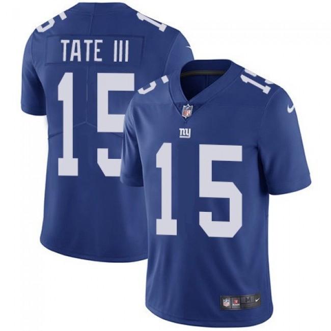 Nike Giants #15 Golden Tate Royal Blue Team Color Men's Stitched NFL Vapor Untouchable Limited Jersey