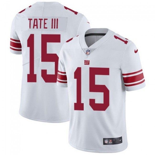 Nike Giants #15 Golden Tate White Men's Stitched NFL Vapor Untouchable Limited Jersey