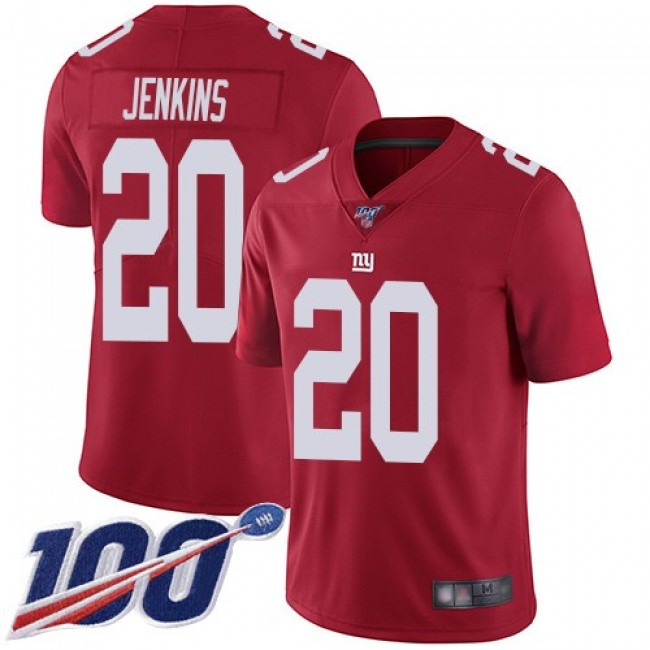 Nike Giants #20 Janoris Jenkins Red Men's Stitched NFL Limited Inverted Legend 100th Season Jersey