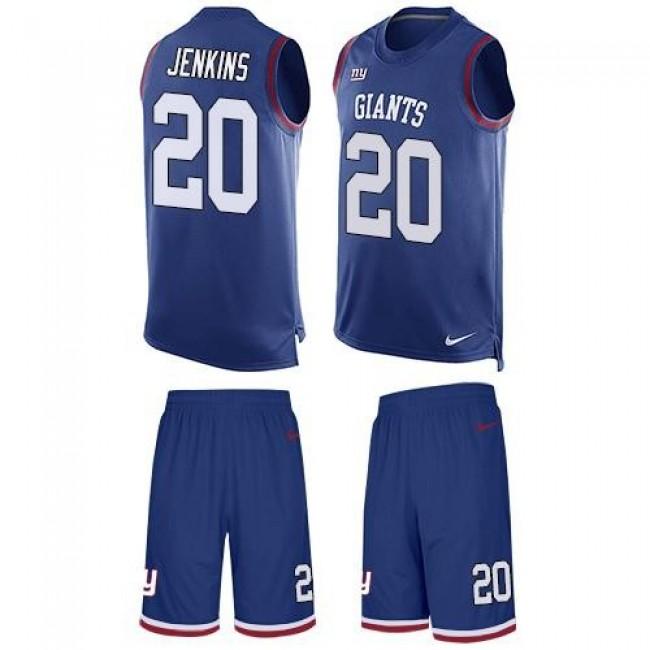 Nike Giants #20 Janoris Jenkins Royal Blue Team Color Men's Stitched NFL Limited Tank Top Suit Jersey