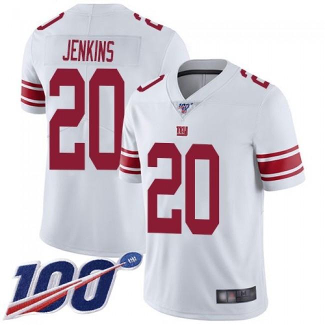 Nike Giants #20 Janoris Jenkins White Men's Stitched NFL 100th Season Vapor Limited Jersey