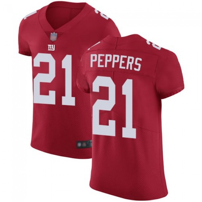 Nike Giants #21 Jabrill Peppers Red Alternate Men's Stitched NFL Vapor Untouchable Elite Jersey