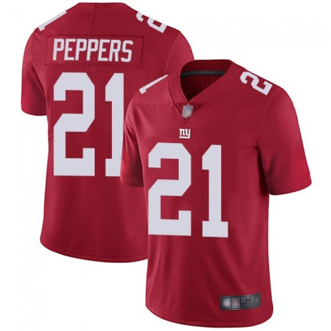 Nike Giants #21 Jabrill Peppers Red Alternate Men's Stitched NFL Vapor Untouchable Limited Jersey