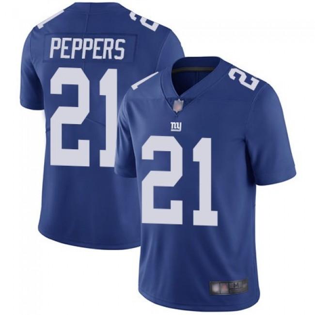 Nike Giants #21 Jabrill Peppers Royal Blue Team Color Men's Stitched NFL Vapor Untouchable Limited Jersey