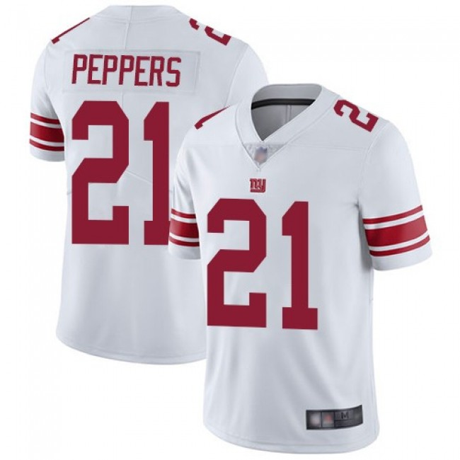 Nike Giants #21 Jabrill Peppers White Men's Stitched NFL Vapor Untouchable Limited Jersey