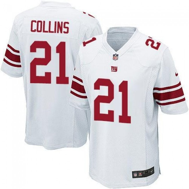 New York Giants #21 Landon Collins White Youth Stitched NFL Elite Jersey