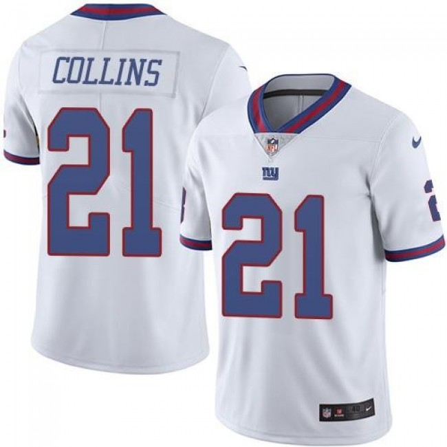 New York Giants #21 Landon Collins White Youth Stitched NFL Limited Rush Jersey