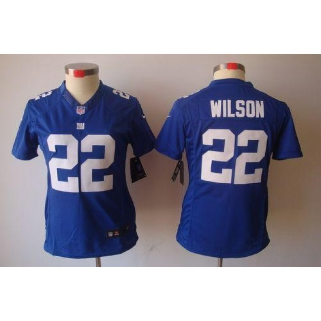 Women's Giants #22 David Wilson Royal Blue Team Color Stitched NFL Limited Jersey