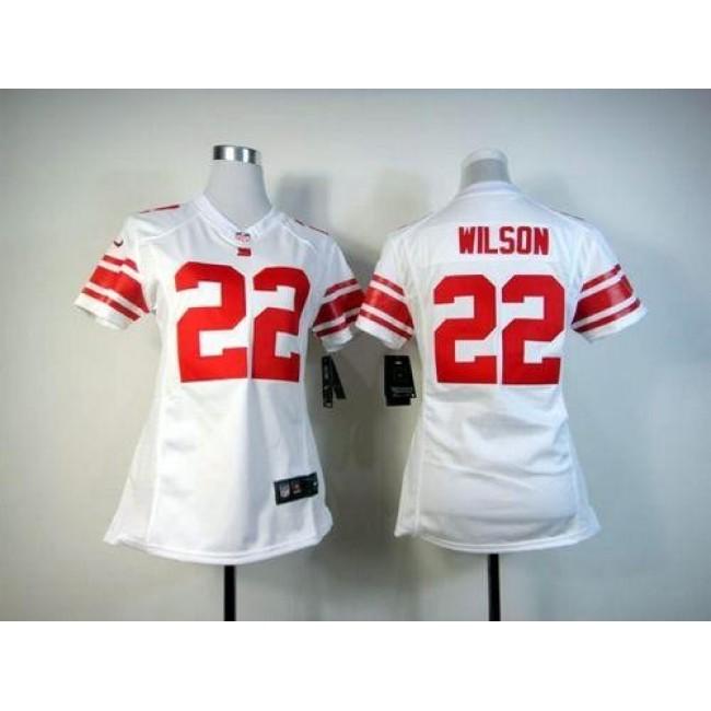 Women's Giants #22 David Wilson White Stitched NFL Elite Jersey