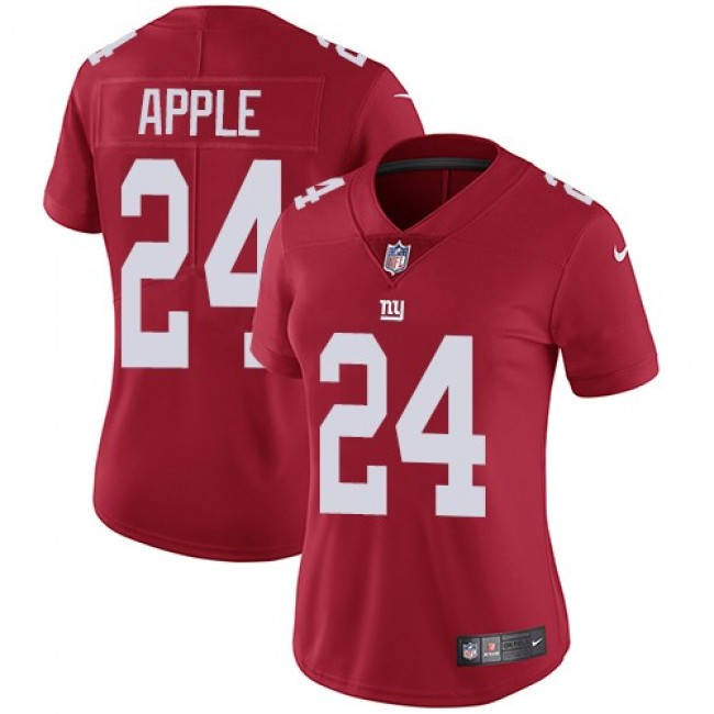 Women's Giants #24 Eli Apple Red Alternate Stitched NFL Vapor Untouchable Limited Jersey