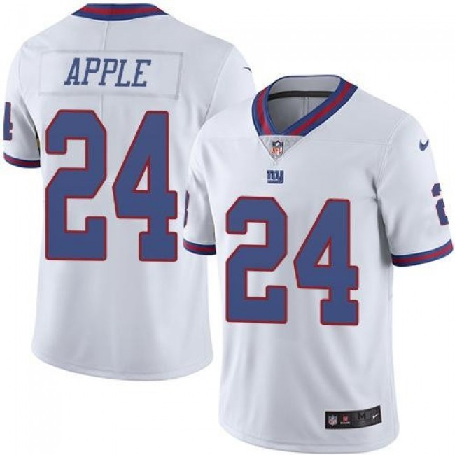 New York Giants #24 Eli Apple White Youth Stitched NFL Limited Rush Jersey