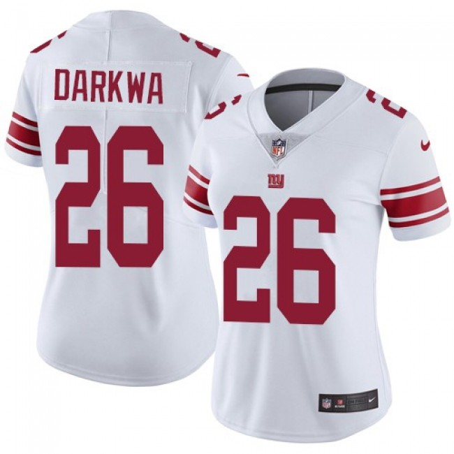 Women's Giants #26 Orleans Darkwa White Stitched NFL Vapor Untouchable Limited Jersey