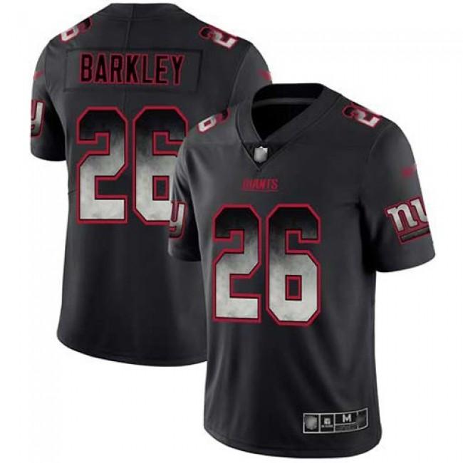 Nike Giants #26 Saquon Barkley Black Men's Stitched NFL Vapor Untouchable Limited Smoke Fashion Jersey